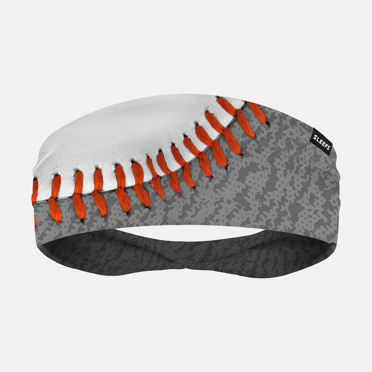 Baseball White Gray Headband