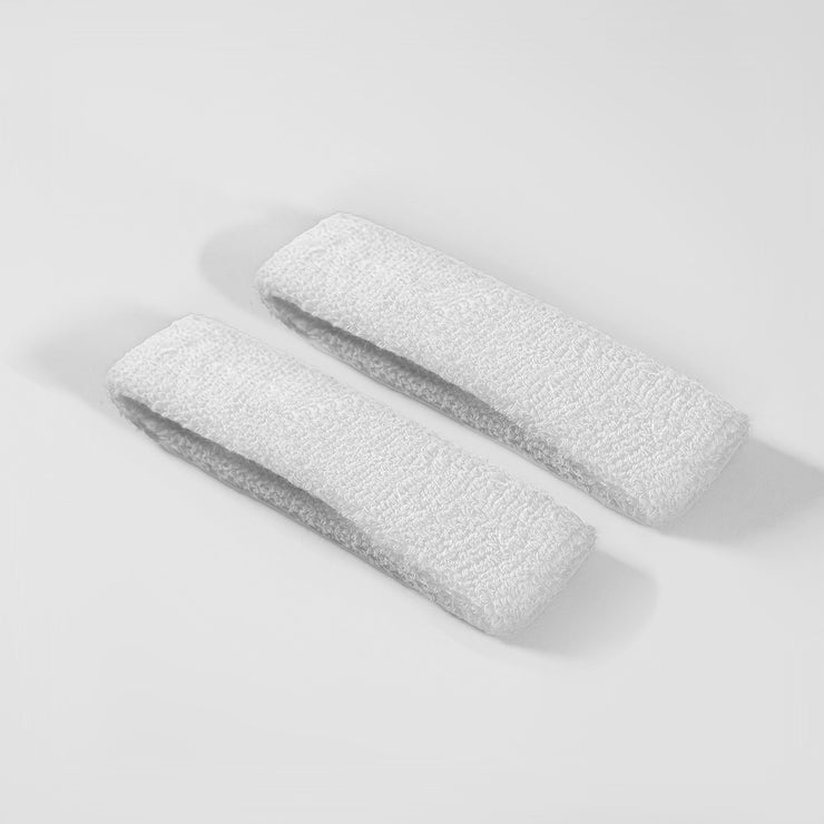 Basic White Cotton Bicep Bands