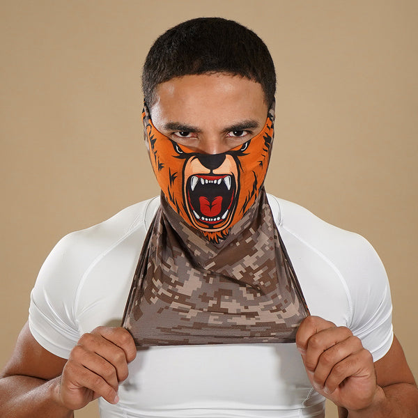 Bear Face Mask Neck Gaiter
