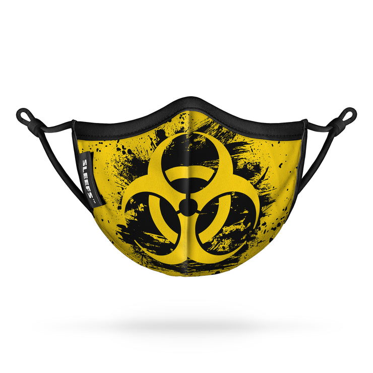 Biohazard Grunge Kids Face Mask With Nose Shape