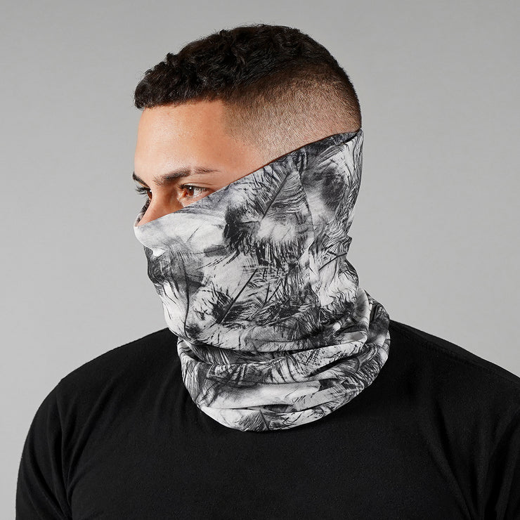 10 Pack Black Feathers Neck Gaiter