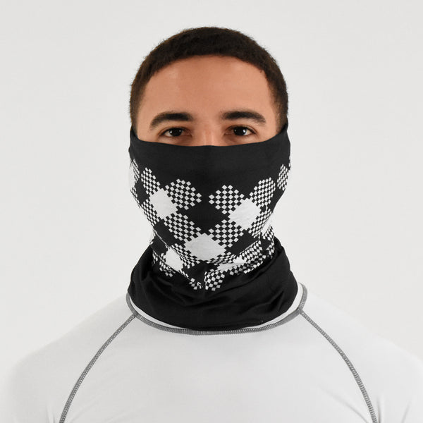 Black Checkers Neck Gaiter