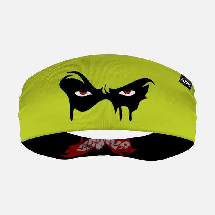 Black Mask Savage Green Doublesided Headband