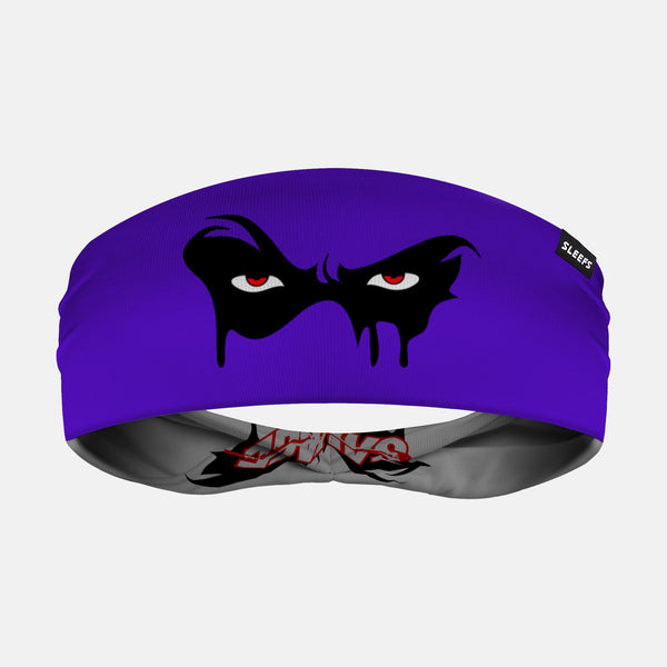 Black Mask Savage Purple Doublesided Headband