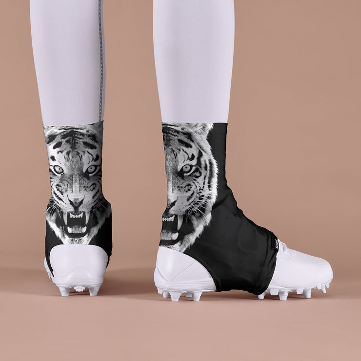 Black Tiger Spats / Cleat Covers