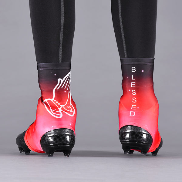 Blessed Red Spats / Cleat Covers