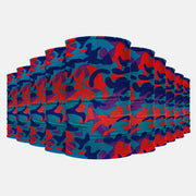 10 Pack Blue Red Purple Camo Neck Gaiter