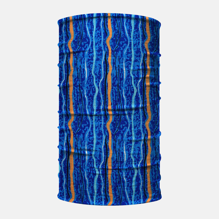 Blue Orange Strings Neck Gaiter