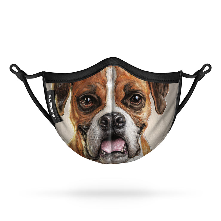 Boxer Dog Kids Face Mask With Nose Shape