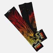 Breath Fire Black Orange Kids Arm Sleeve