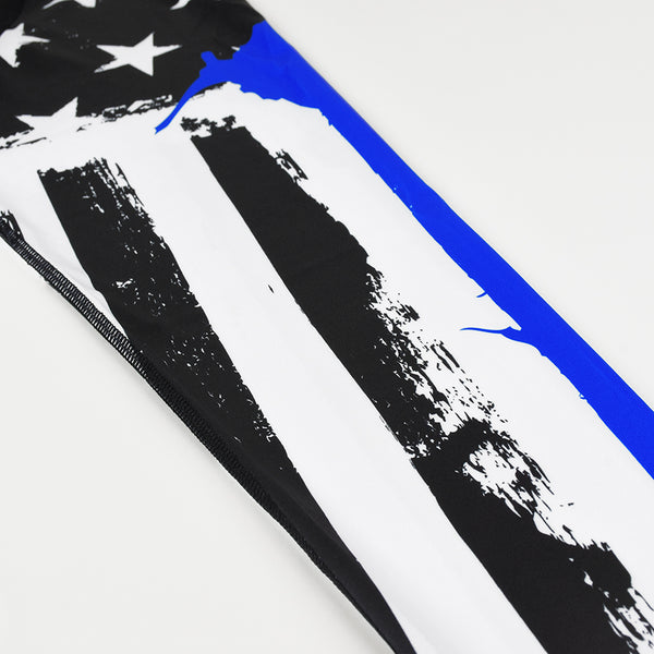 Brushes Thin Blue Line Tights for men