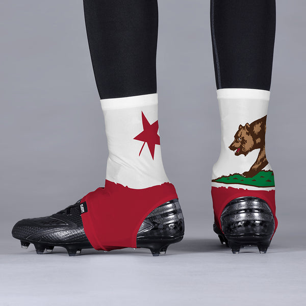 California Beast State Flag Spats / Cleat Covers
