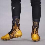 Carpe Diem Black Gold Spats / Cleat Covers