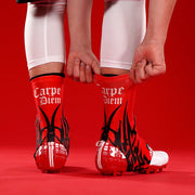 Carpe Diem Red Spats / Cleat Covers