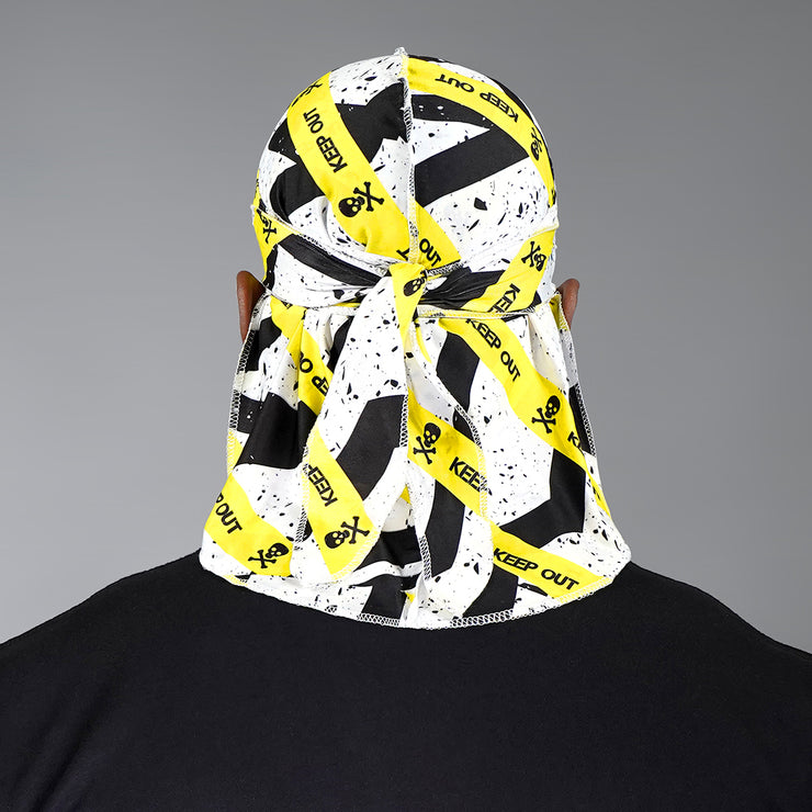 Keep Out Black Yellow Durag