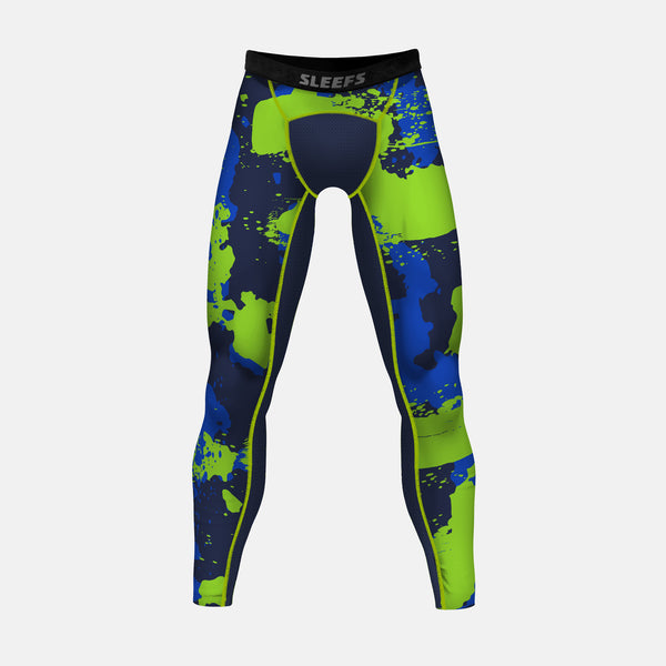 Corrosive midnight hawk compression tights / leggings