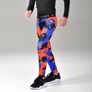 Corrosive Orange Black Blue Tight for Kids