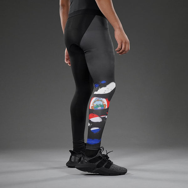 Costa Rica Flag Ripped Tights for men
