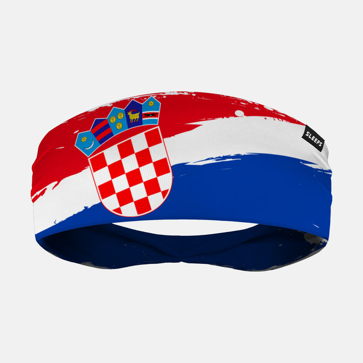 Croatia Brushed Flag Headband