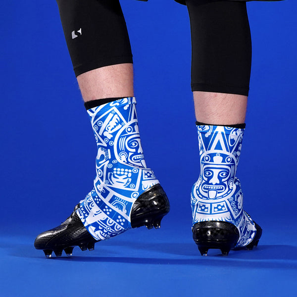 Aztec Blue Spats / Cleat Covers