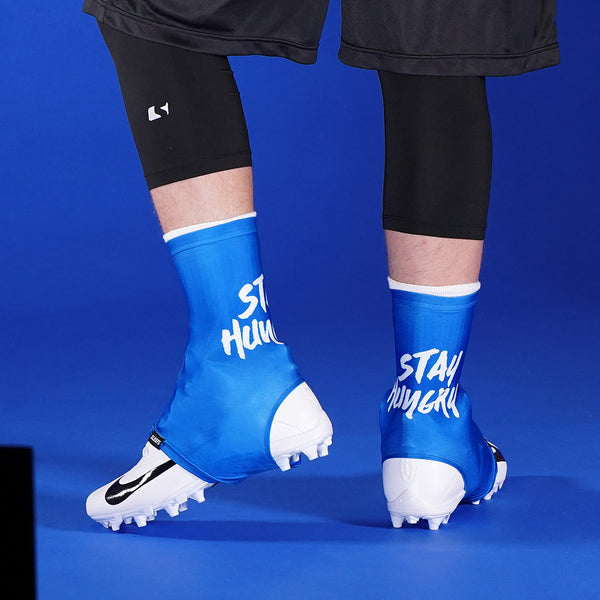 Stay Hungry Blue Spats / Cleat Covers