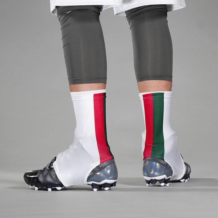 Rosso Oliva White Spats / Cleat Covers
