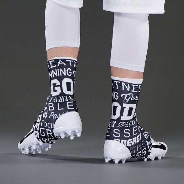 Inspirational Black Spats / Cleat Covers