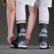 Stay Hungry Black Spats / Cleat Covers