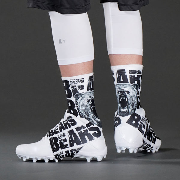 Bears White Spats / Cleat Covers