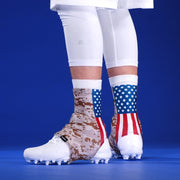 Digi Camo Desert USA Flag Spats / Cleat Covers