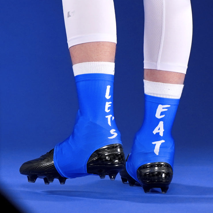 Let's Eat Blue Spats / Cleat Covers