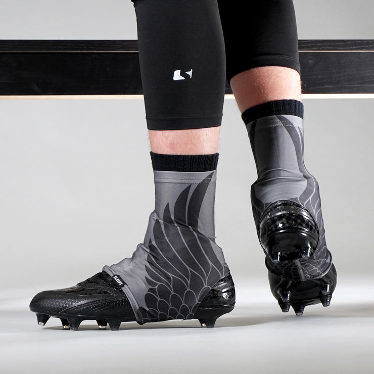 Icarus Gray Black Spats / Cleat Covers