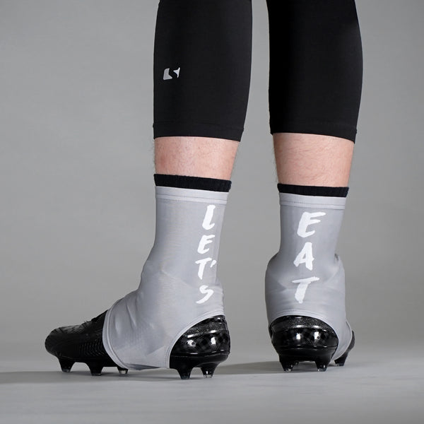 Let's Eat Gray Spats / Cleat Covers