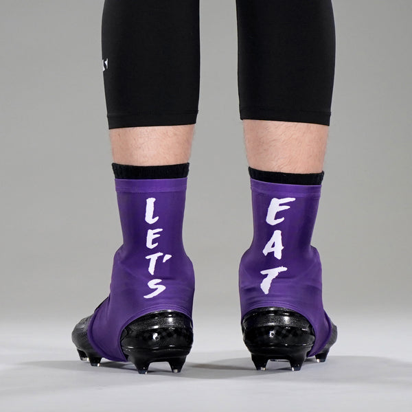 Let's Eat Purple Spats / Cleat Covers