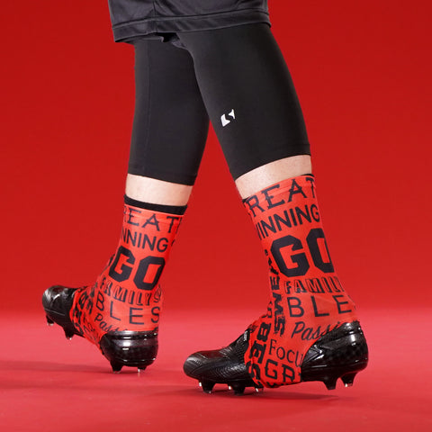 99eea355f7e Inspirational Red Spats   Cleat Covers