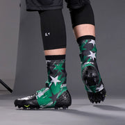 Savage Word Stars Green Black Gray Spats / Cleat Covers