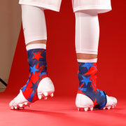 Savage Word Stars Red Blue Navy Spats / Cleat Covers