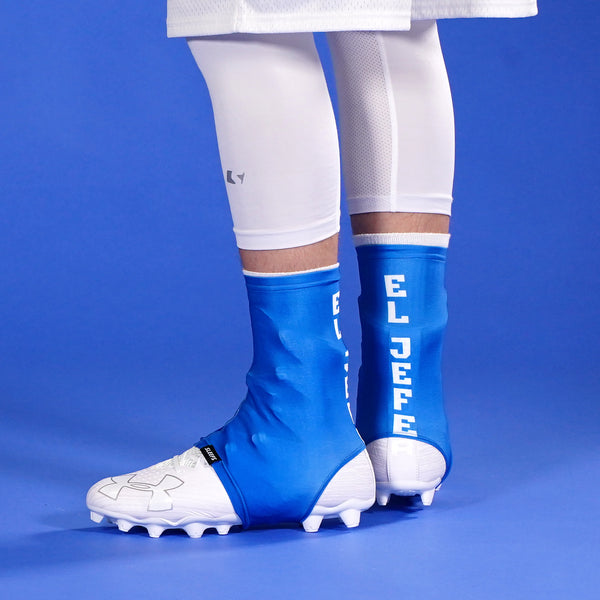 El Jefe Blue Spats / Cleat Covers