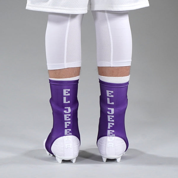 El Jefe Purple Spats / Cleat Covers
