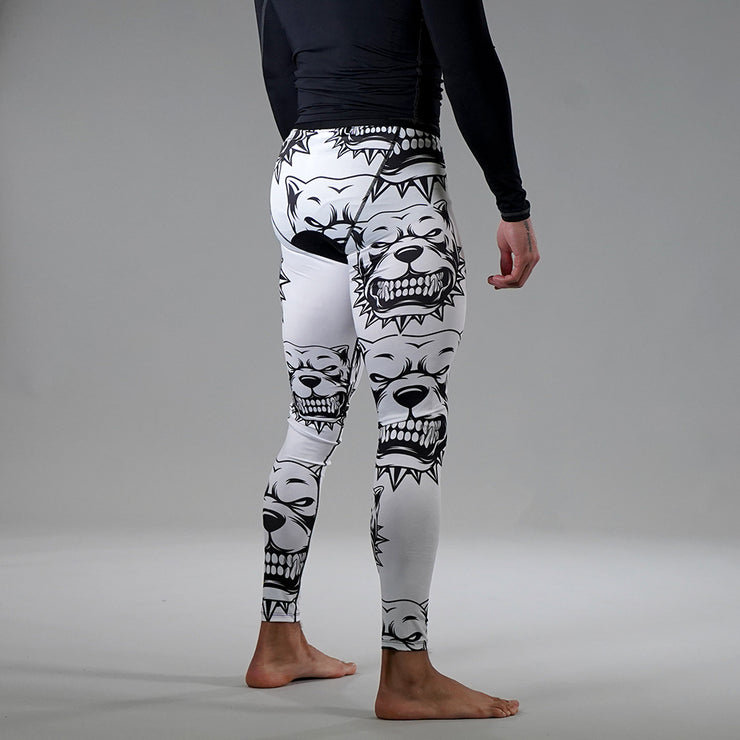 Pitbulls White Tights for Men