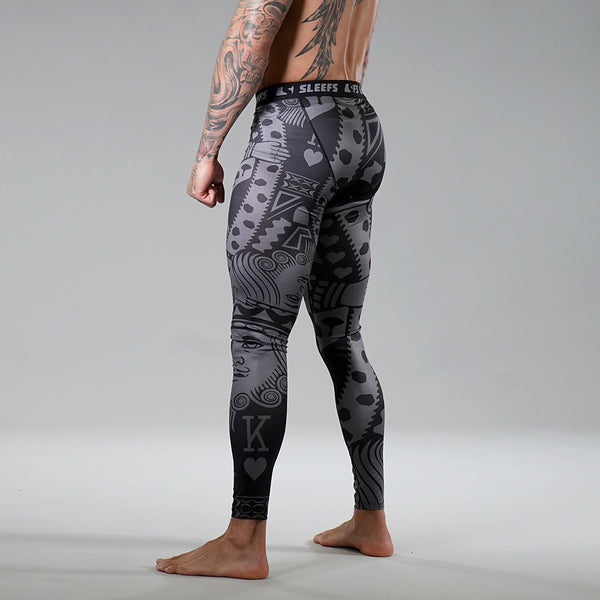 5f54254a King Of Hearts Tactical Tights for Men | SLEEFS