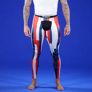 Stroke Red Blue White Tights for Men