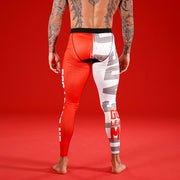 God Leads Me White Red Tights for Men