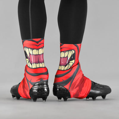 Red Beast Mask Spats / Cleat Covers