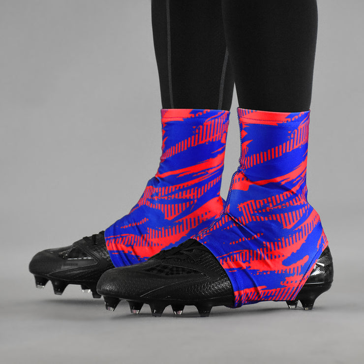Tryton Ultra Red Blue Spats / Cleat Covers