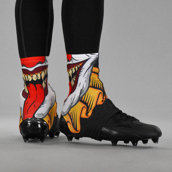 Evil Clown Spats / Cleat Covers