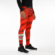Red Beast Mask Tights for men
