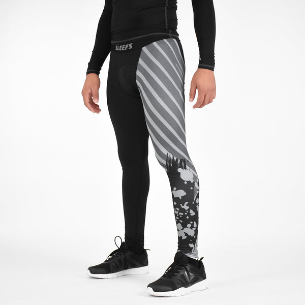 Half Aerial Black OPS Tights for men
