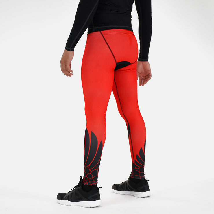 Icarus Red Black Tights for men