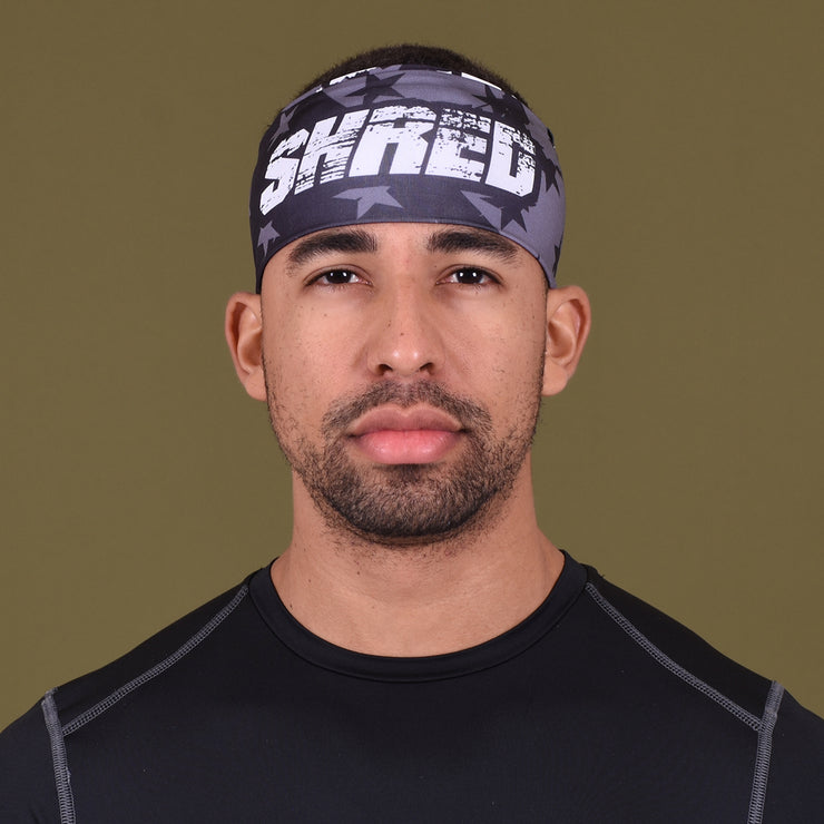 Shred Stars Black OPS Double Sided Headband